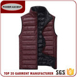 Popular Lightweight Fake Down Reversiable Vest for Man