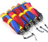 Colorful Promotional Fold and Straight Rainbow Umbrella