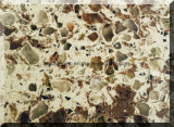Double Colors Quartz Stone Slab for Vanity Top/ Counter Top/ Island