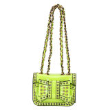 Green Color Rivets Stud Fashion Lady Handbags (MBLX031063)
