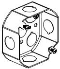 4 in. Steel Octagonal Ceiling Box, 1-1/2 in. Deep, UL Listing