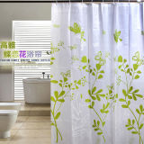 High Quality 100% Polyester Waterproof Shower Curtain for Bathroom (DPH7090)