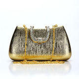 Luxury Golden Fashion Designer Evening Clutch Bag (MBNO036109)