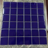 Blue Ice Crack Ceramic Swimming Pool Mosaic Tile