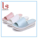 Women PU Leather Sandals Shoes Wedges Platform Shoes with Crystal