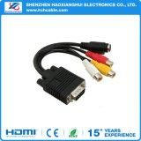 1PCS 3 RCA Female Converter VGA to Video out Adapter