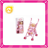 "12"" Blow Twin Doll 2 in 1 Plastic Cart Doll Toy"