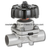 Sanitary Butt Welded Diaphragm Valve Manually Operated