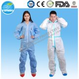 Nonwoven Disposable Protective Coverall with Zipper