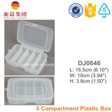 5 Vertical Compartment Plastic Storage Box