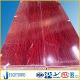 China Wood Grain Aluminium Sandwich Panel for Decoration