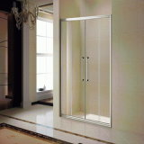 Al-Frame Shower Screen with 2 Sliding Doors (K-813-6)