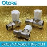 "Angle Brass Thermostatic Radiator Valve 1/2"" 3/4"""