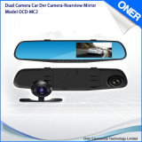 Dual Camera Rearview Mirror Car DVR with Dash Cam