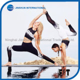 Black and White Color Special Patterns Printed Women Sports Yoga Pants
