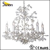 Fancy Iron Sliver Foil Decorative Lamp