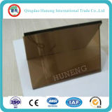 6mm Bronze Float Tinted Glass Good Quanlity