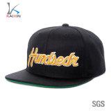 China Factory acrylic 6 Panel Black 3D Embroidery Snapback Hats