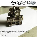 3-PC Stainless Steel Ball Valve with High Direct Mouting Pad