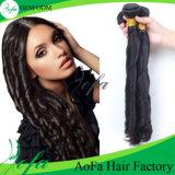 "20"" Natural Black Spring Curly Virgin Human Hair Extension"