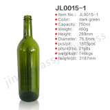 750ml Red Wine Flint Glass Bottle with Screw Cap