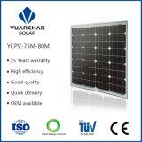 Cheap Photovaltaic Panels Mono 75 W Solar Panel with High Compentitive Advantageous