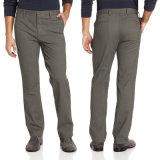 Men′s Comfort Waist Flat-Front Leisure Chino Pants