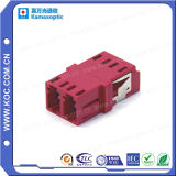 LC Om4 Voilet Duplex Fiber Optical Adapter Without Flange