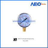 Utility Pressure Gauge with Steel Case and Brass Connector (2W17118)