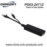 DC12V 10/100Mbps Power and Data Poe Splitter (PD03-24T12)