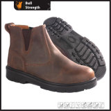 Crazy Horse Nubuck Leather Safety Chelsea Boot with Steel Toe