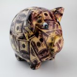 Wholesale and OEM Ceramic Pig Shaped Piggy Bank
