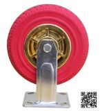 Heavy Duty Red Rubber Foam Fixed Caster