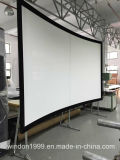 """100"""" 2.35: 1 Projection Screens-Curved Fixed Frame Projector Screen"""