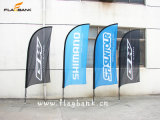 3.4m Exhibition Aluminium Customized Flying Flag/Blade Flag/Swooper Flag