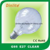G95- Clear Frost White and Golden Incandescent Bulb