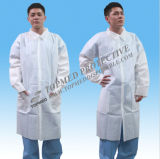 Disposable SBPP Lab Coat, Dotcot Coat, Dispsaoble Worker Coat