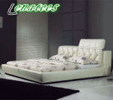 A039 White Leather Bed Latest Bedroom Furniture