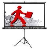 96X96 Inch Tripod Portable Projector Screen Floor Standing