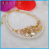 Gold Giraffe Charm Pearl Bracelet #31452