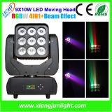 Matrix 9X10W LED Moving Head Beam and Wash Light
