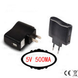 5V 500mA USB Charger for Home Travel Smart Phone/MP3/MP4/MP5/