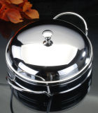 Silver Plated Baker with Glass (AG30812DL)
