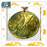 2015 New Products Wholesale Cheap Vintage Custom Large Ancient Greek Coin Pendant Necklace, , Nice Cameo, Deliberate Coin