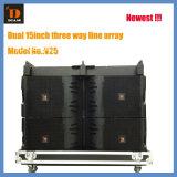 "Hot-Sale Vtx V25 Dual 15"" Three Way Line Array Speaker"