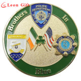 Custom Shiny Gold Metal Police Coin for Souvenir