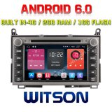 Witson Quad-Core Android 6.0 Car DVD Player for Toyota Venza 2g RAM Bulit in 4G 16GB ROM