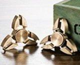 Triangular Copper Brass Finger Gyro Fidget Spinner