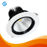 Round Embed Ceiling Rotatable Adjustable Dimmable 25W COB LED Downlighting