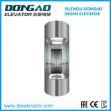 Machine Room Observation Lift with Good Quality Glass Sightseeing